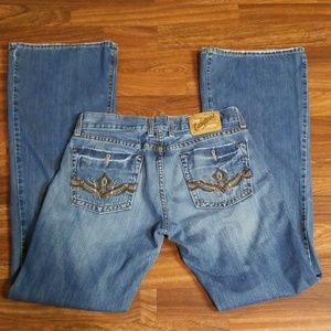 Lucky Brand Distressed Midnight Maggie Jeans